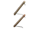 "2""x4""pressure treated wood louver arm with 304ss rod assembly 49"""